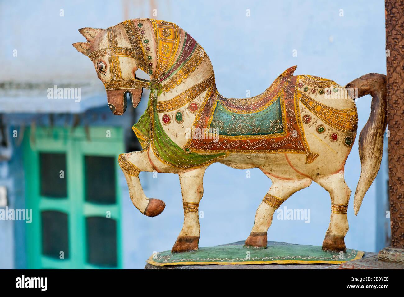 Horse Sculpture Arts Crafts Jodhpur Rajasthan India Stock Photo Alamy