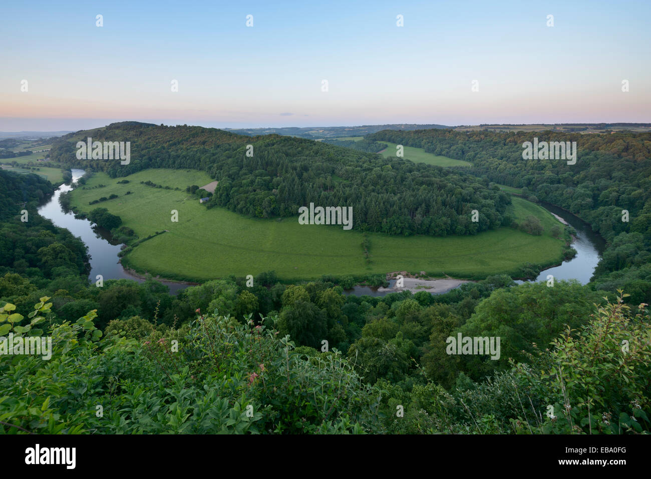 View of Symond's Yat from Symond's Yat Rock in Gloucestershire. - Stock Image