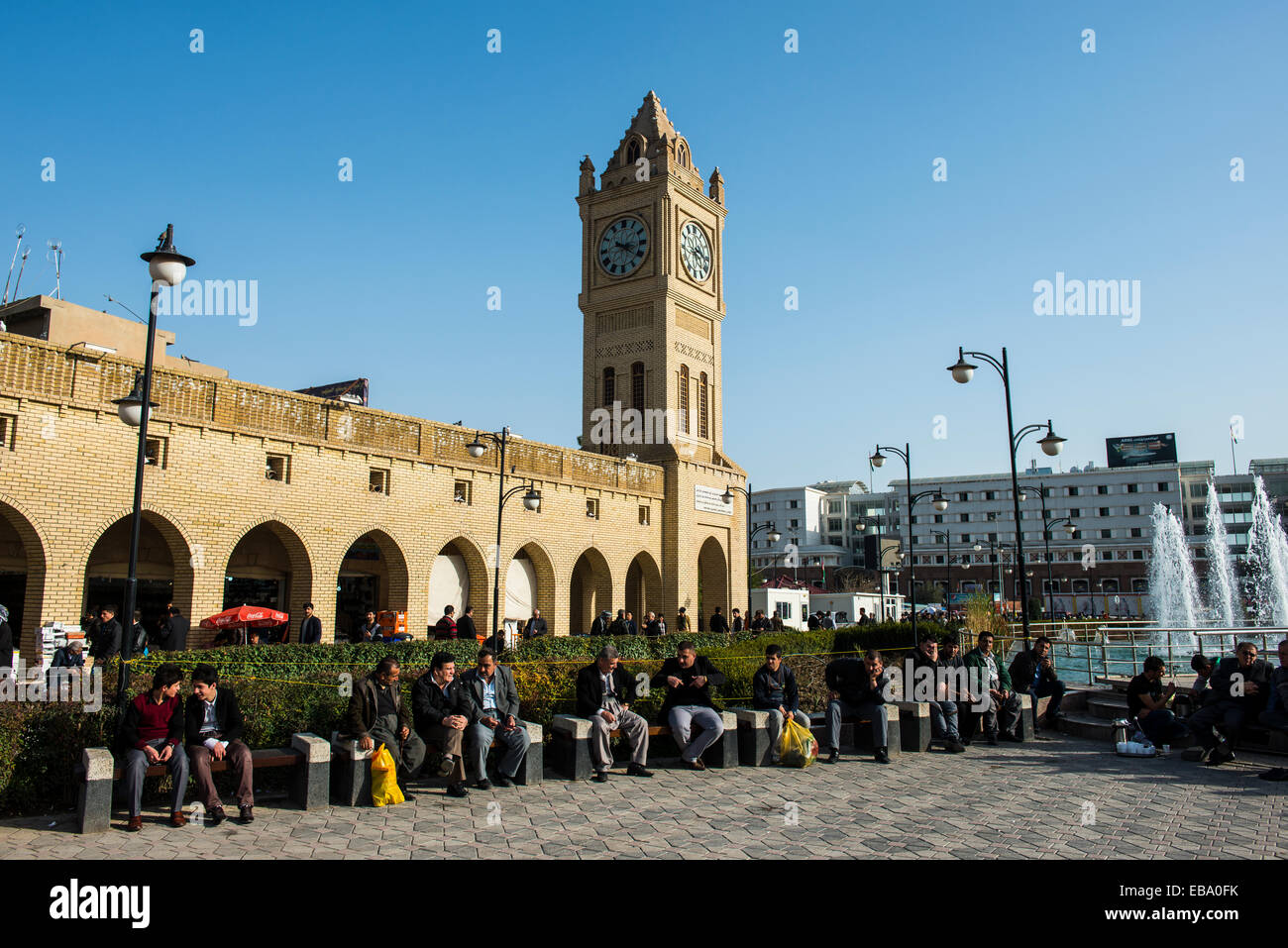 Bazaar square, Erbil, Arbil Province, Iraqi Kurdistan, Iraq - Stock Image