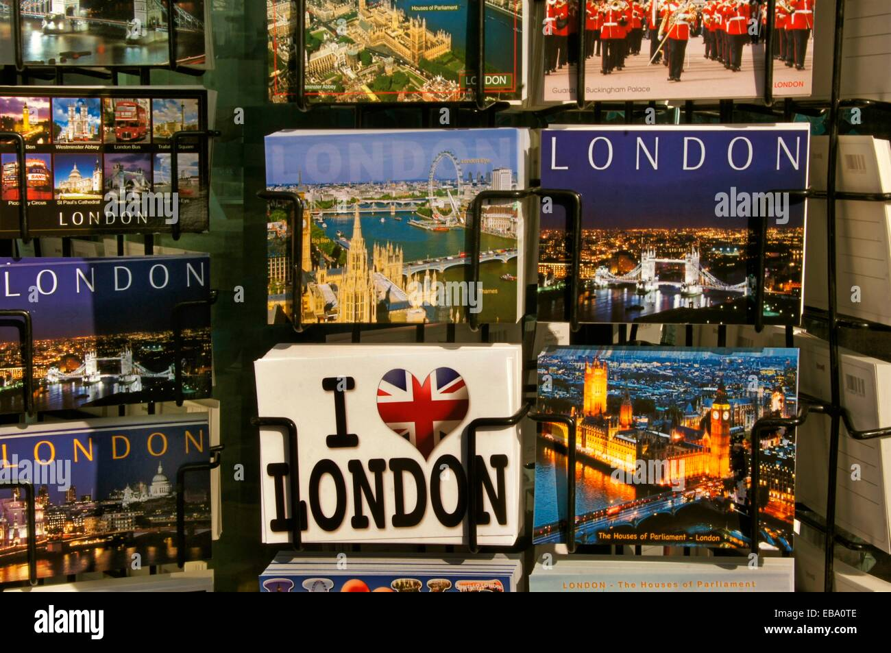UK, London, Postcards. - Stock Image