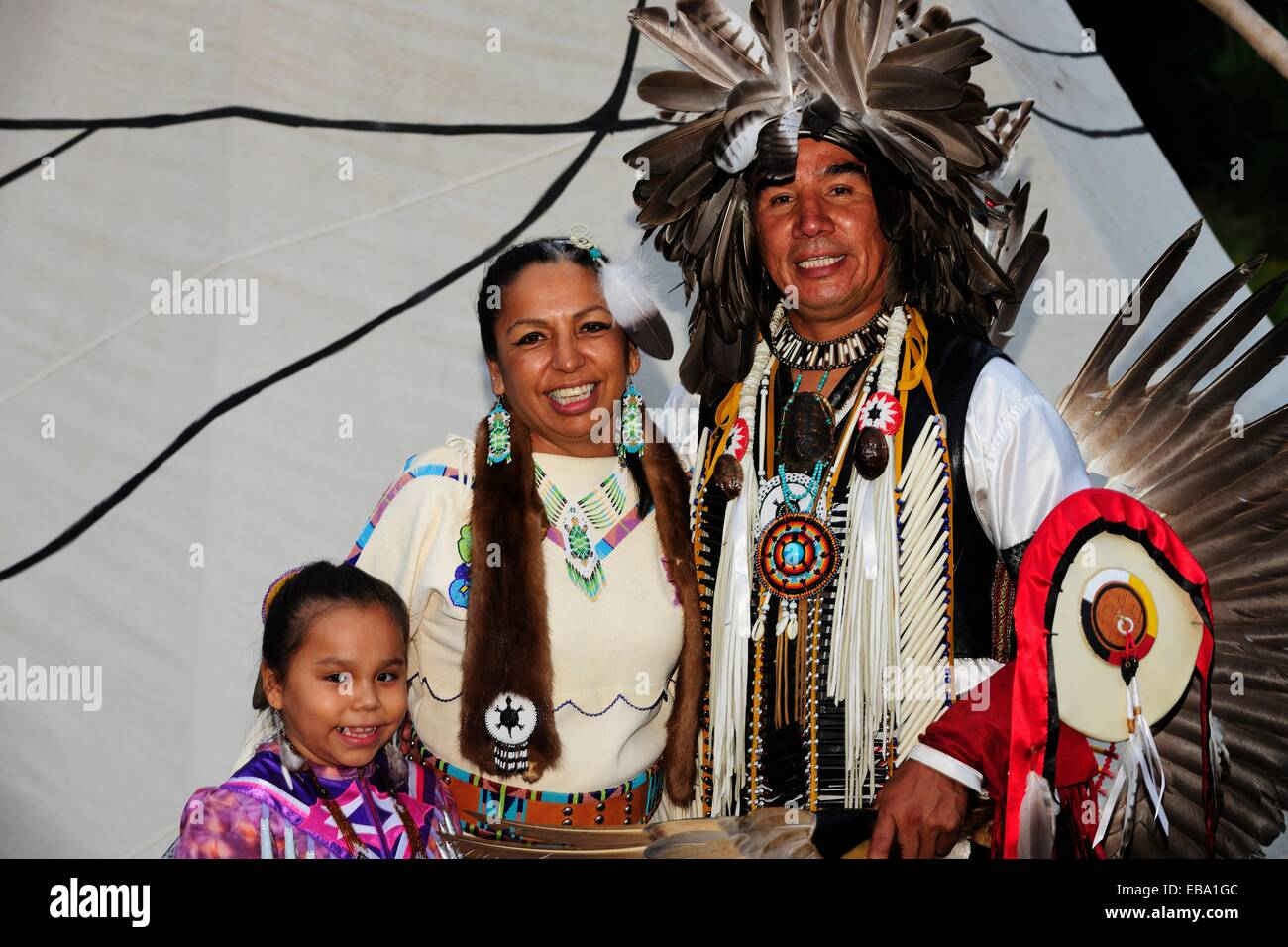 Mobile Island For Kitchen Ojibwe People Native American Family At A Pow Wow