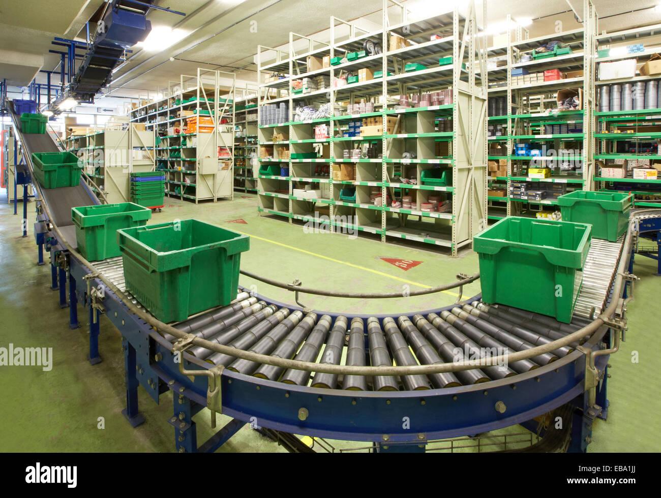 Warehouse distribution. Logistics. Gipuzkoa. Basque Country. Spain. - Stock Image