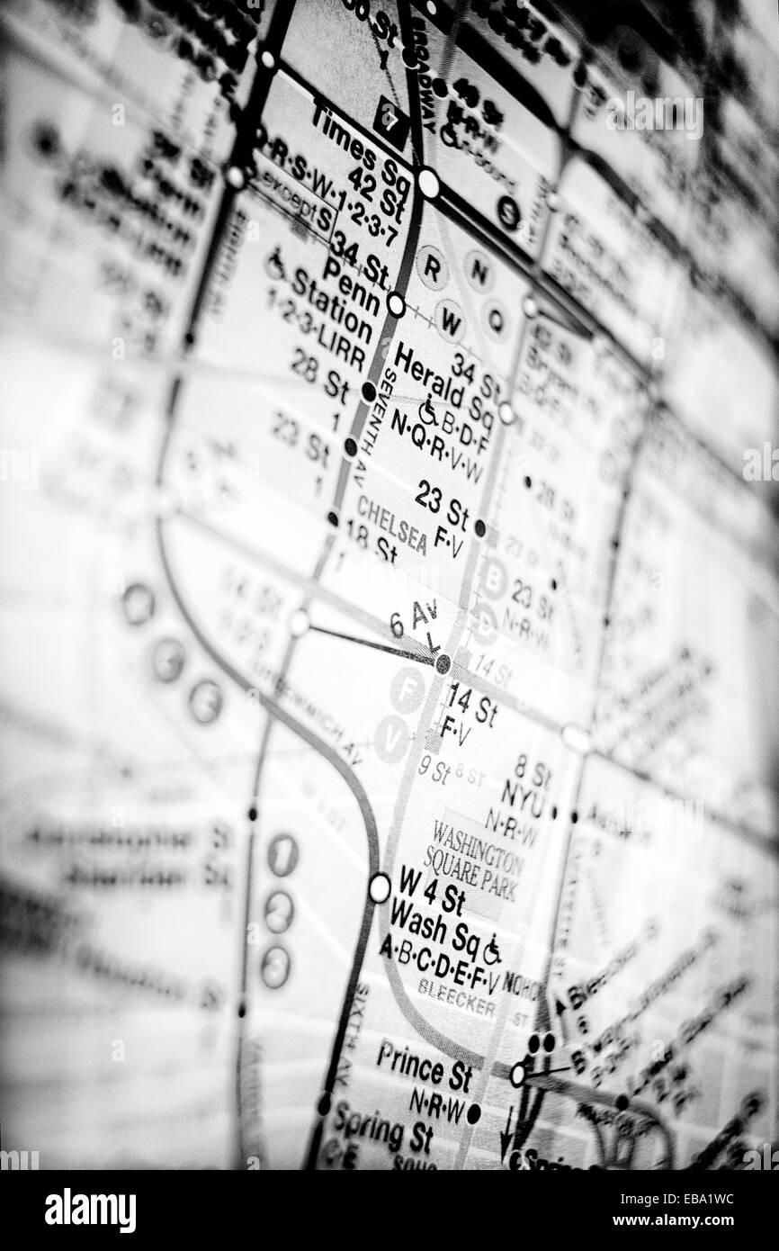 New York City Subway Map Black And White.New York City Subway Map Black And White Stock Photos Images Alamy