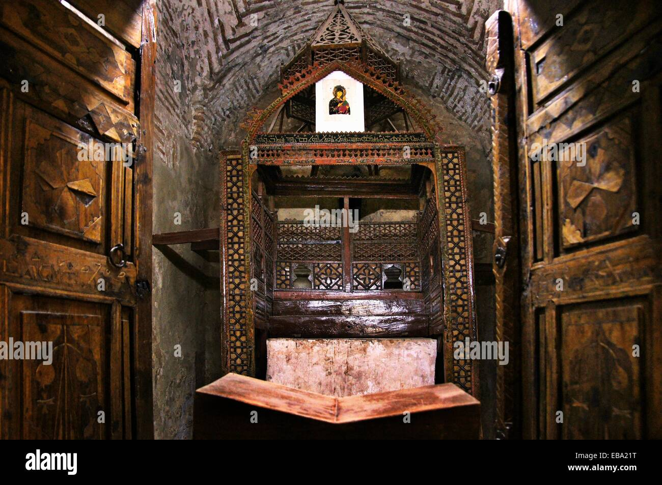 1160 1932 365 493 793 800 abdin acquired ad Ananias architecture area Asia Assyrian better building chair chapel - Stock Image