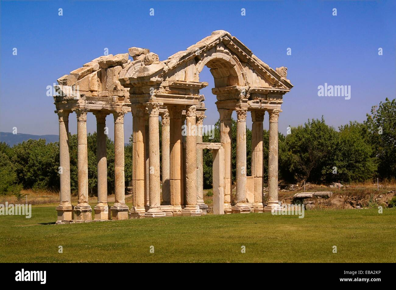 100 140 230 62 according after antiquity Aphrodisias Aphrodite archaeology architecture Asia before being building - Stock Image