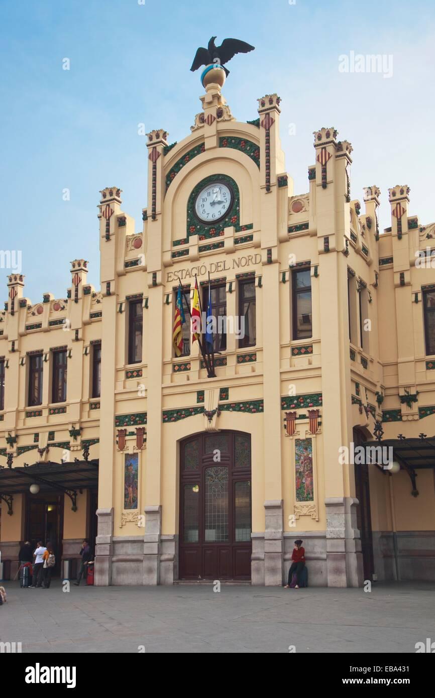 Norte Railway Station  Valencia  Comunidad valenciana  Spain. - Stock Image
