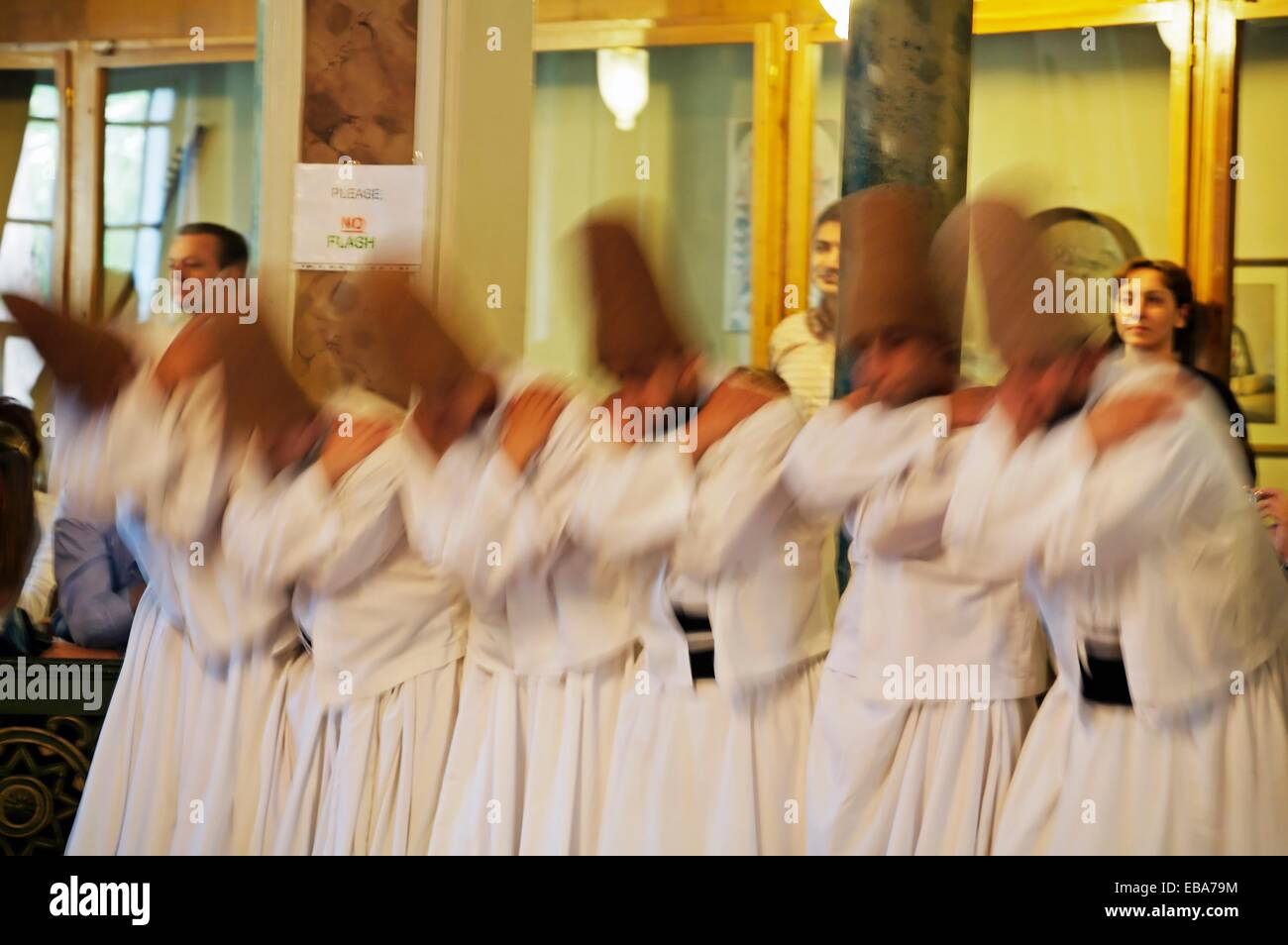 Whirling Dervishes  Istanbul  Turkey. - Stock Image