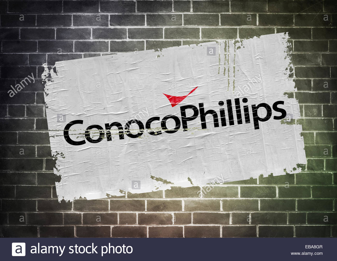 Conocophillips Fracking Company Logo Icon Poster Stock Photo