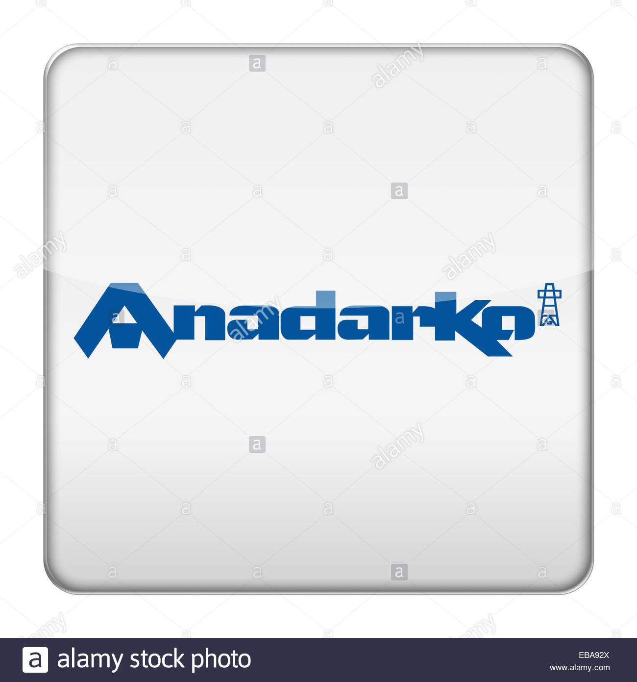 Anadarko Petroleum fracking company logo icon - Stock Image