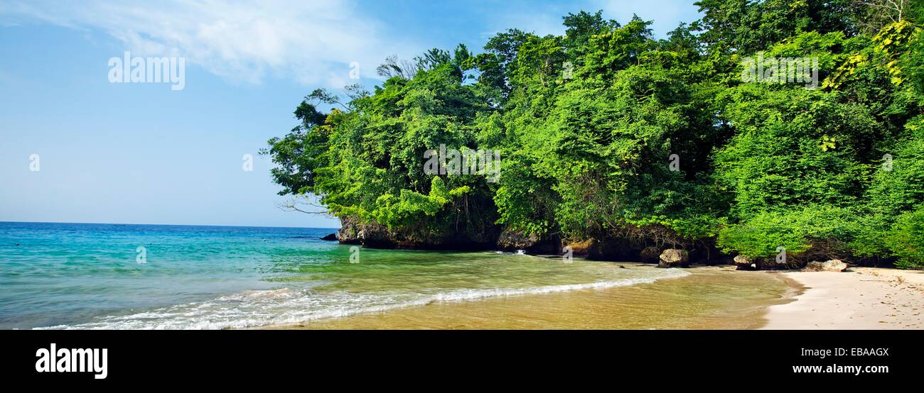 Frenchman´s Cove Beach, Port Antonio, Jamaica, West Indies, Caribbean, Central America. - Stock Image