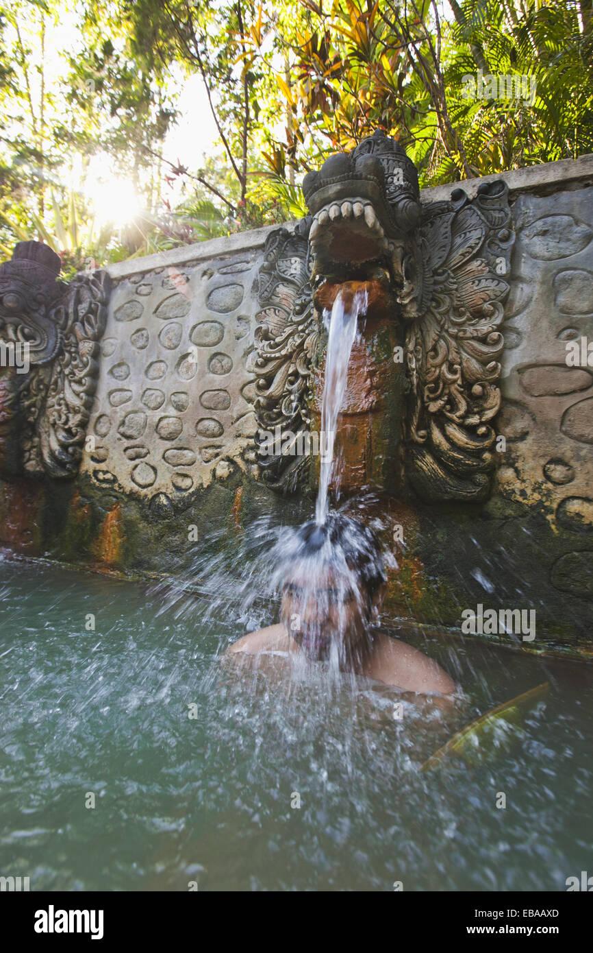 Air Panas hot springs, Banjar, Bali, Indonesia - Stock Image