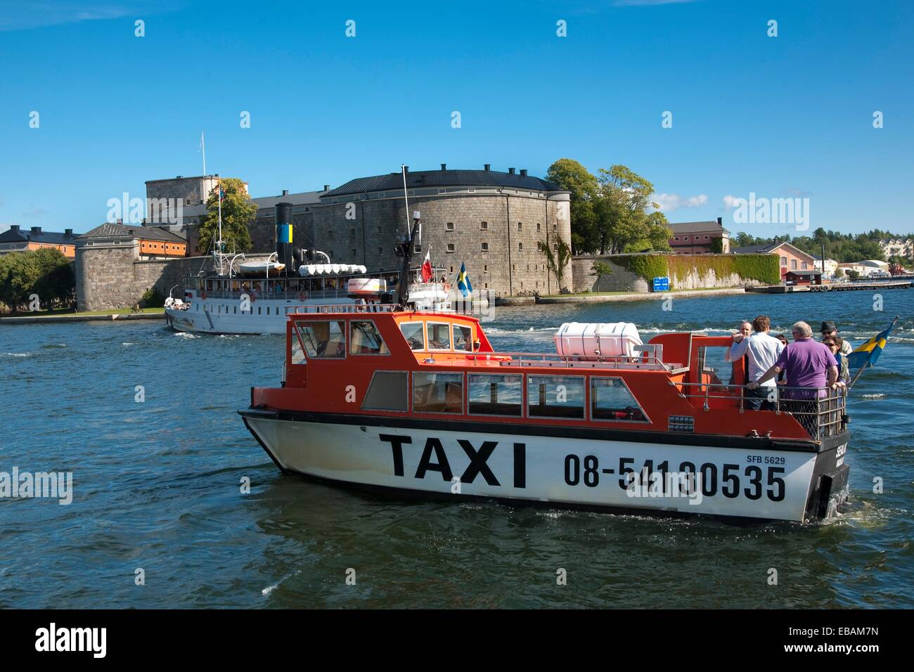 Worter Taxi,Waxholm,Stockholm Stock Photo