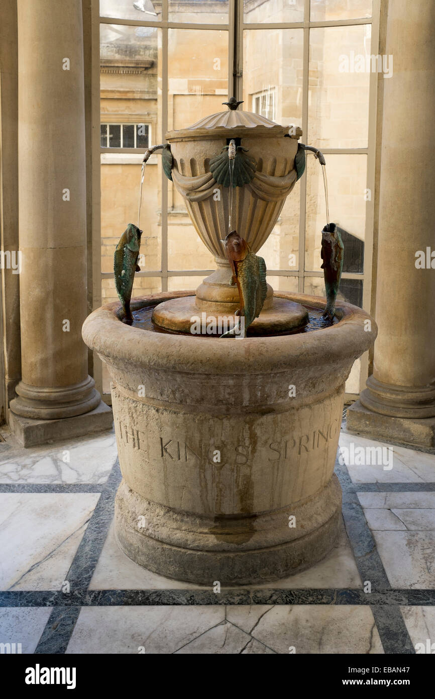 The Kings Spring Water Fountain Inside The Pump Room At Bath Roman Baths  Museum