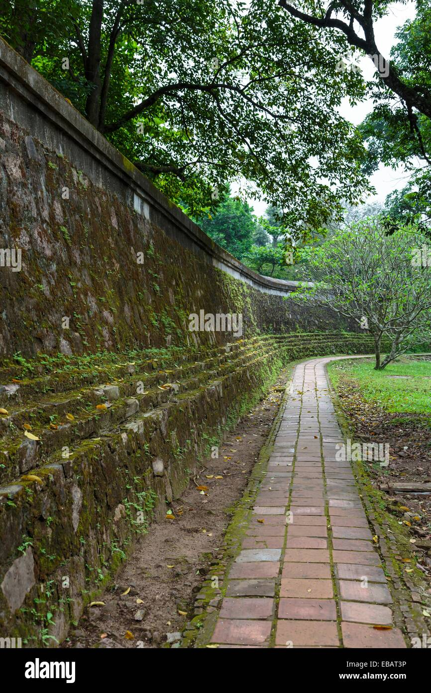 The walled garden at the Tu Duc Emperors tomb near Hue Vietnam Asia ...