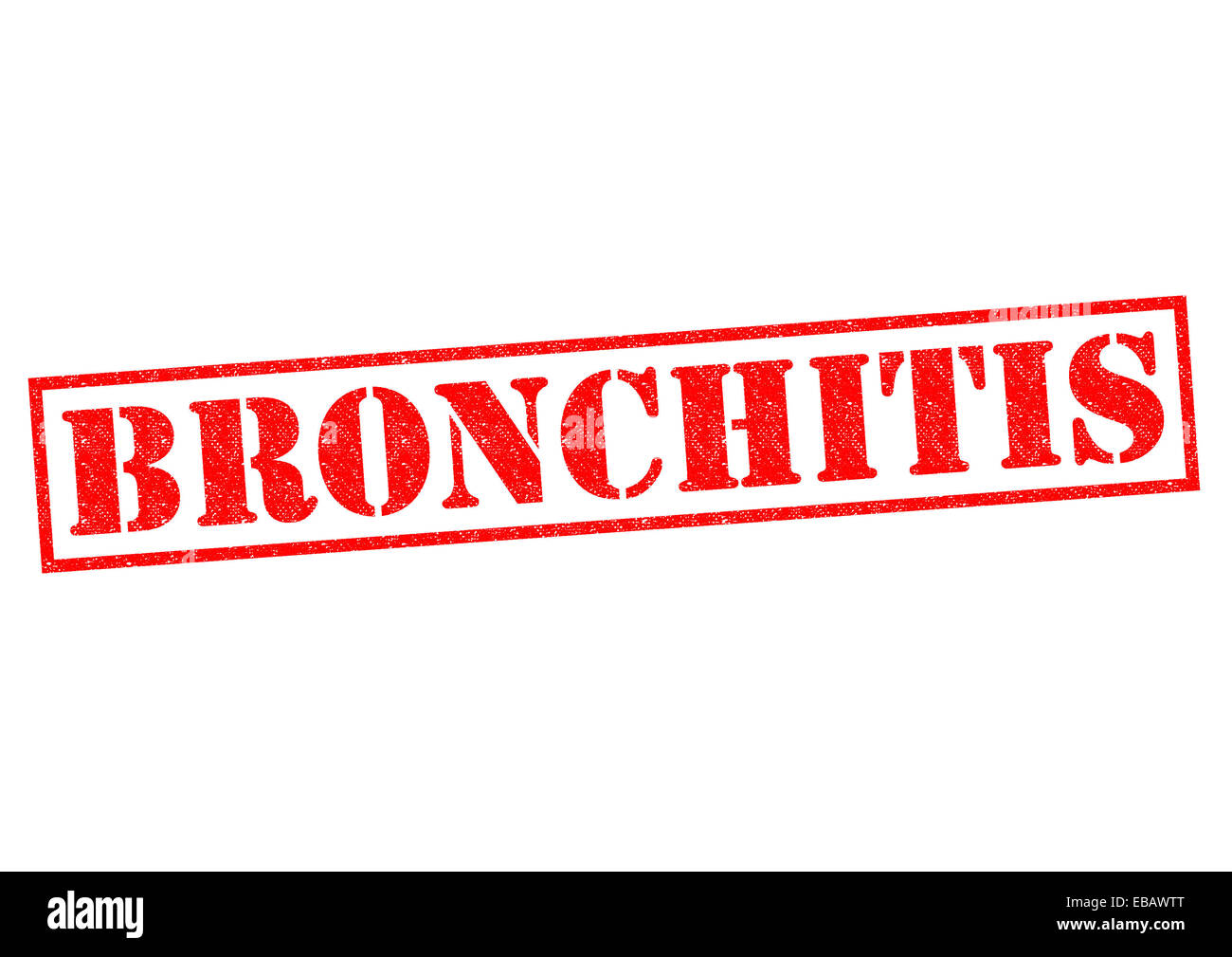 BRONCHITIS red Rubber Stamp over a white background. - Stock Image
