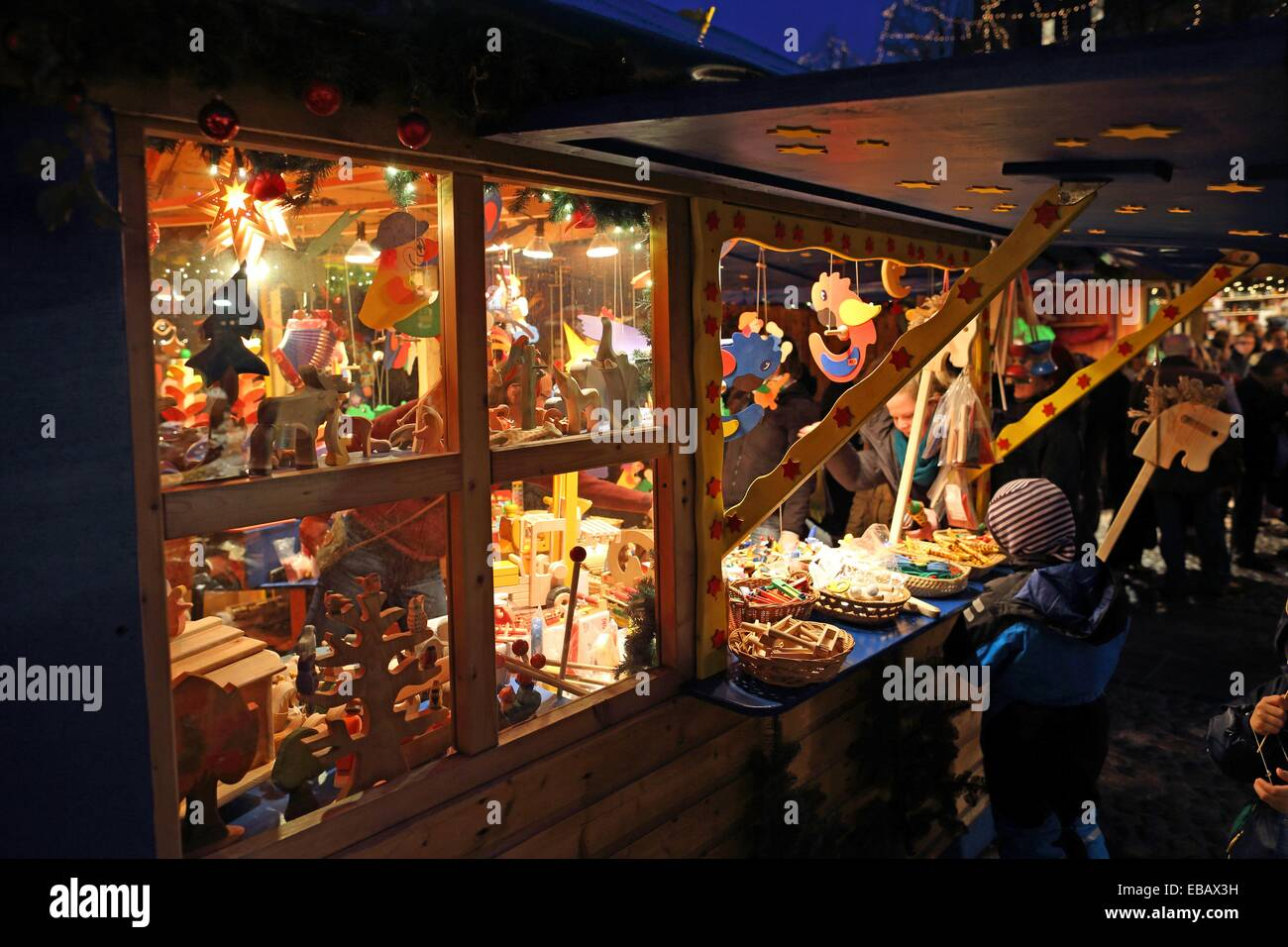 Christmas Market, Lueneburg, Lower Saxonia, Germany, Europe Stock Photo
