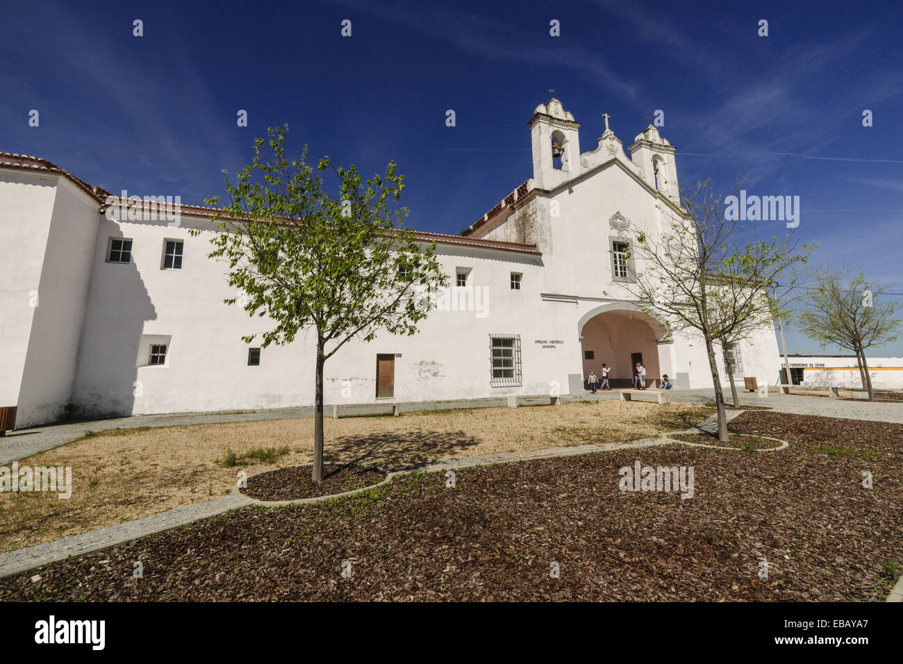 1500s 1591 16th century 21st century Alentejo architecture archive beginning build building built structure church - Stock Image