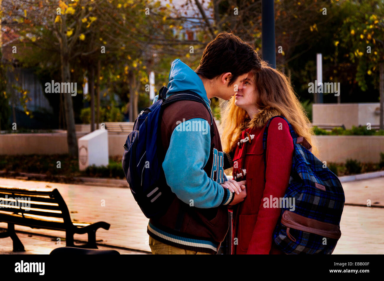 Lovers in Mostar, Bosnia and Herzegovina - Stock Image