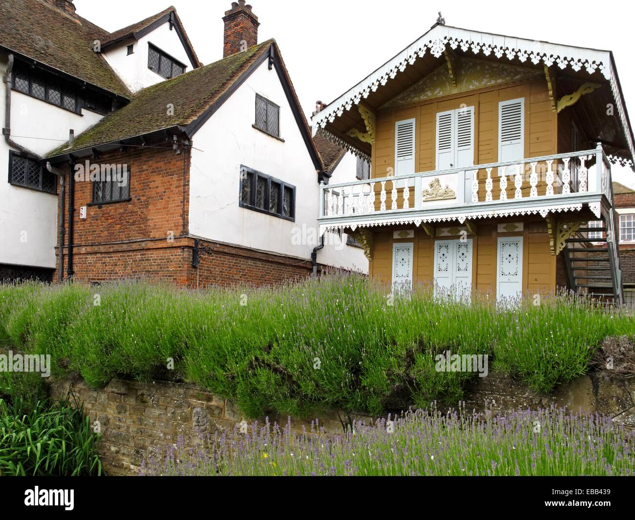 1865 1870 architecture balcony British Isles building built structure chalet Charles Dickens city color image day Stock Photo