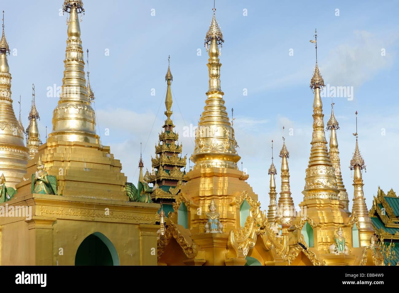 325 4 8 99 architecture art Asia Buddha Buddhism building built structure Burma Burmese color image column dagon - Stock Image