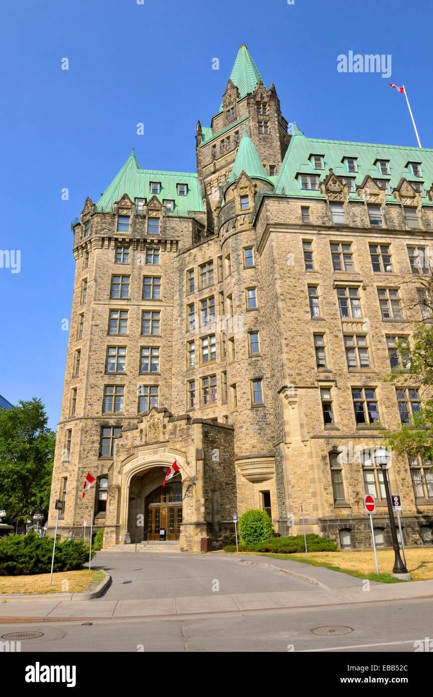 Confereration Edifice Building Ottawa Ontario Canada National Capital City - Stock Image