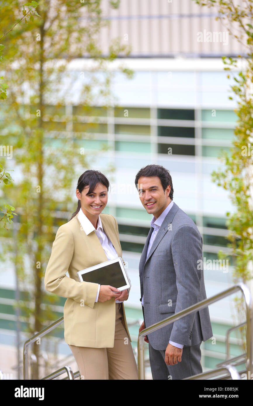 30 to 40 years old 30-35 30-35 years 30-40 30's 35-40 35-40 years adult Basque Country business Business center - Stock Image