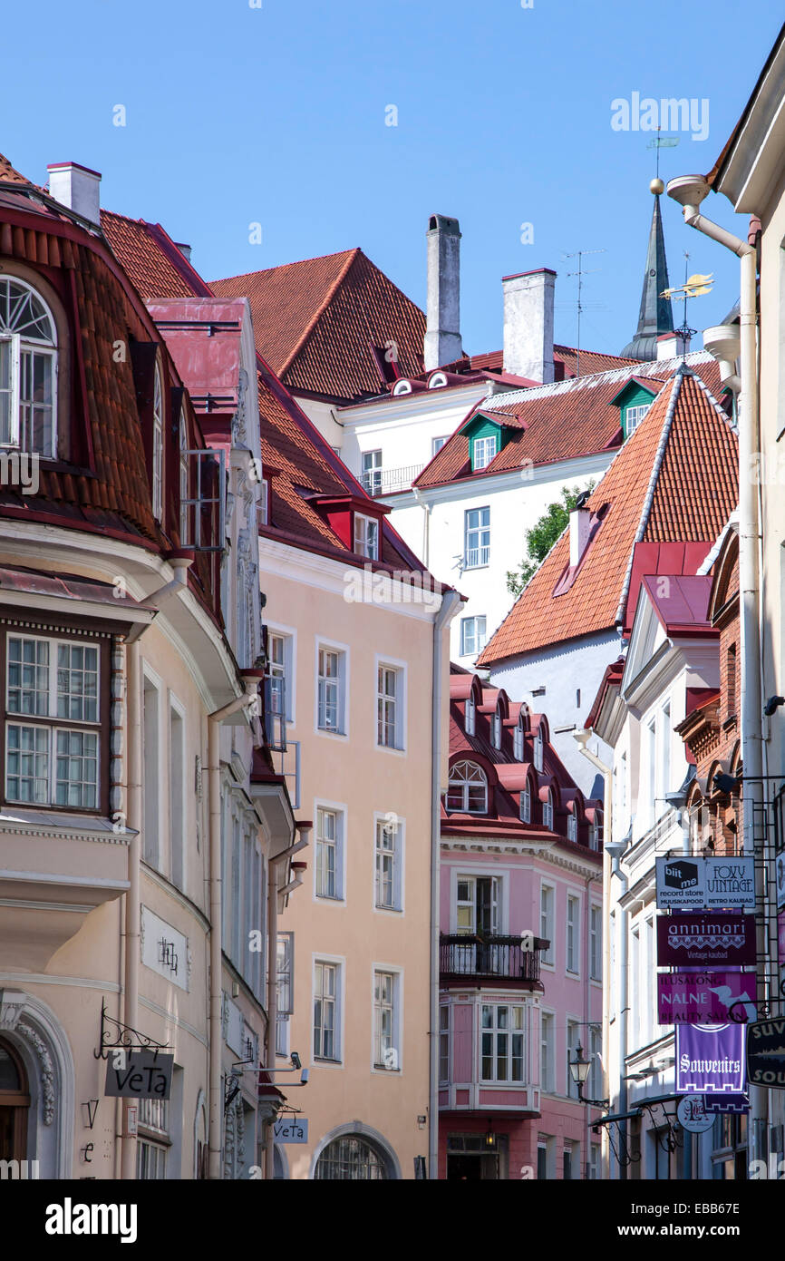 Estonia Tallinn historic old town - Stock Image