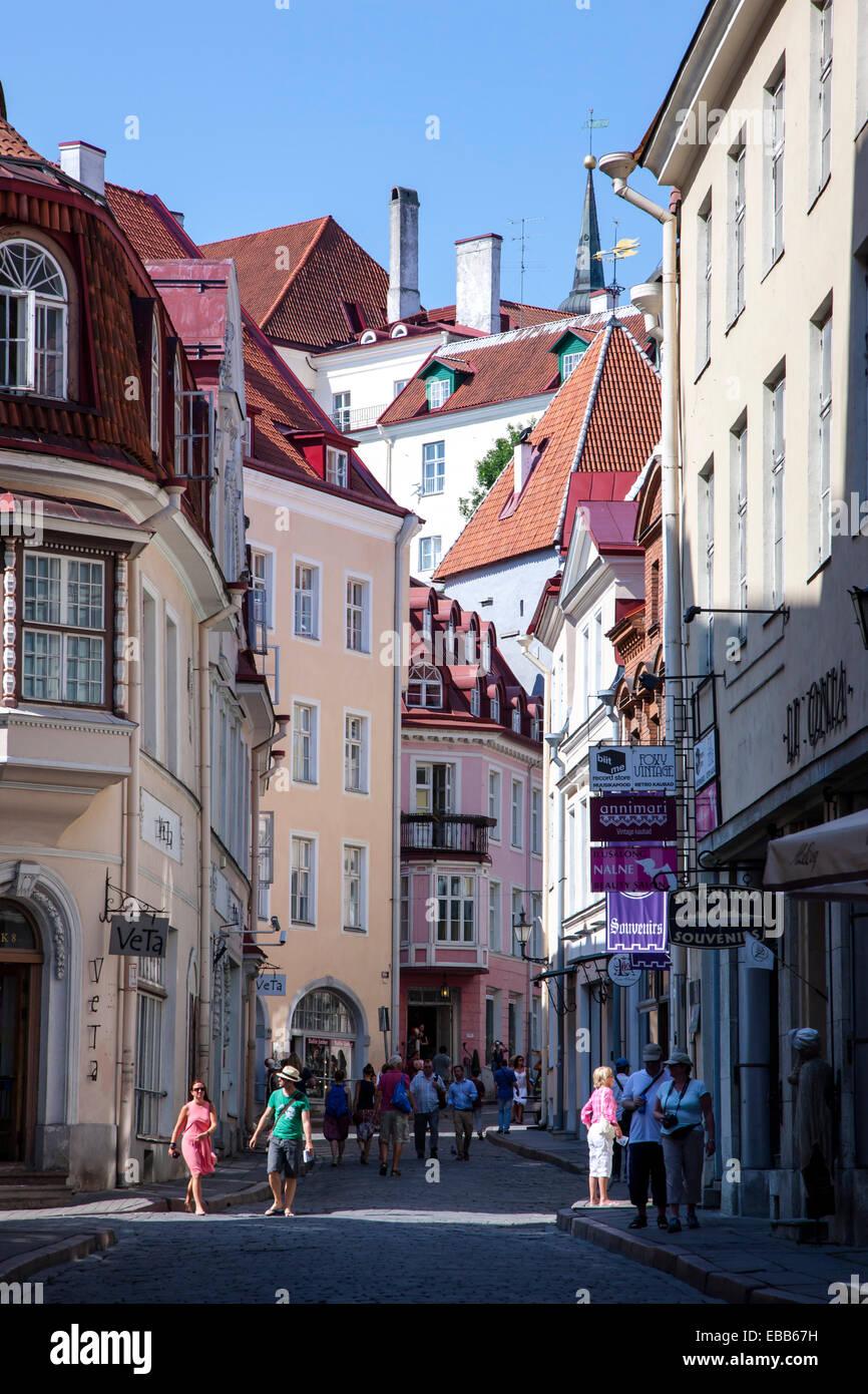 Tallinn Estonia Tallinn old town street - Stock Image