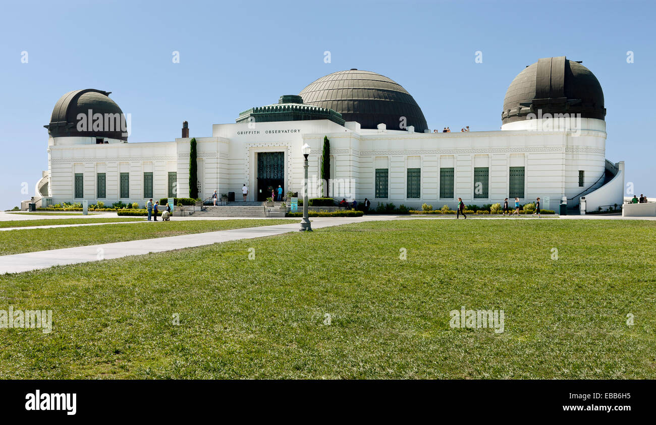 Los Angeles, California, USA - July 29, 2012: A view of the Griffith Observatory, a popular touristic attraction Stock Photo