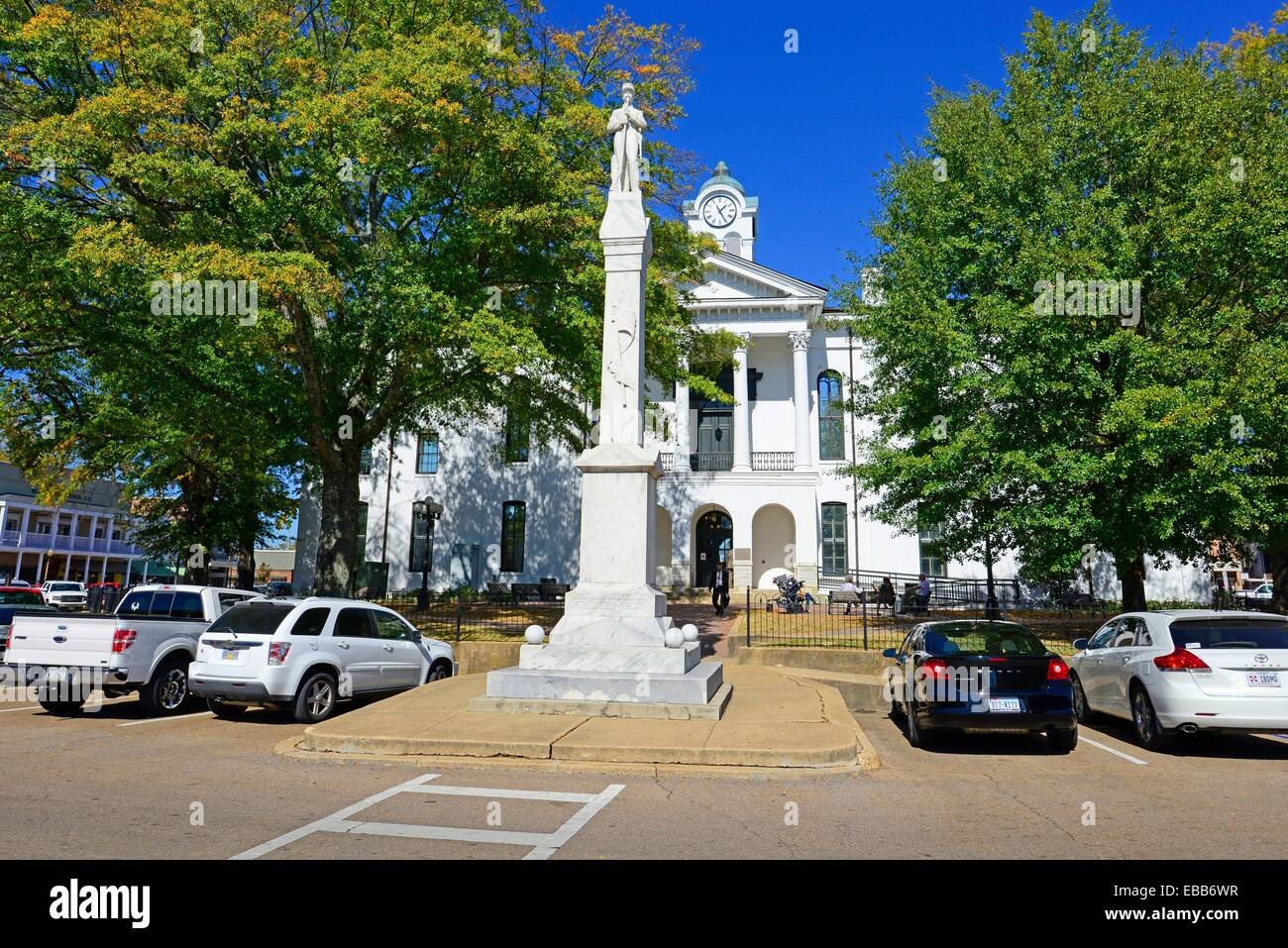 Lafayette County Courthouse Oxford Mississippi MS - Stock Image
