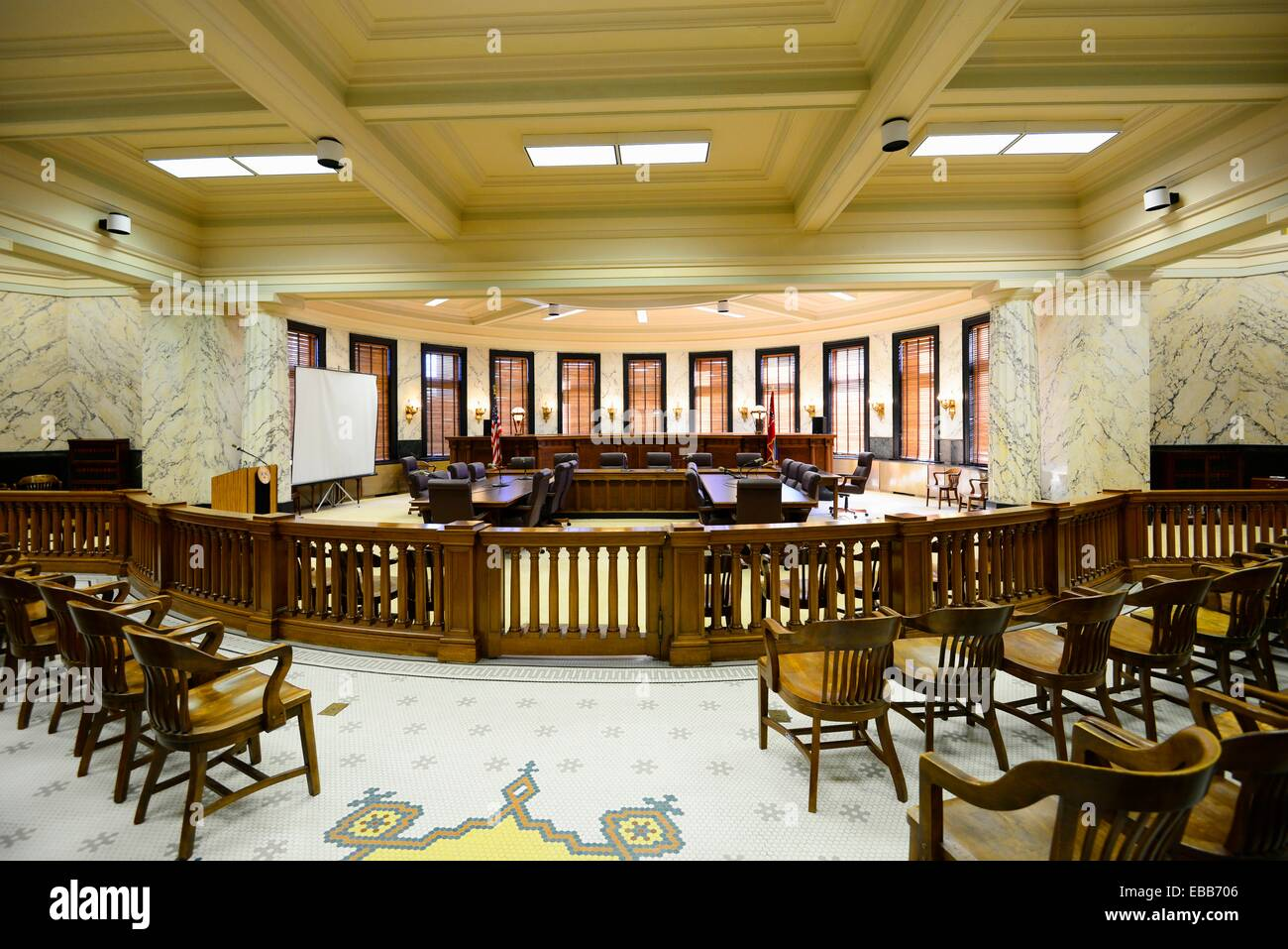 Supreme Court Chamber State Capitol Jackson Mississippi MS US