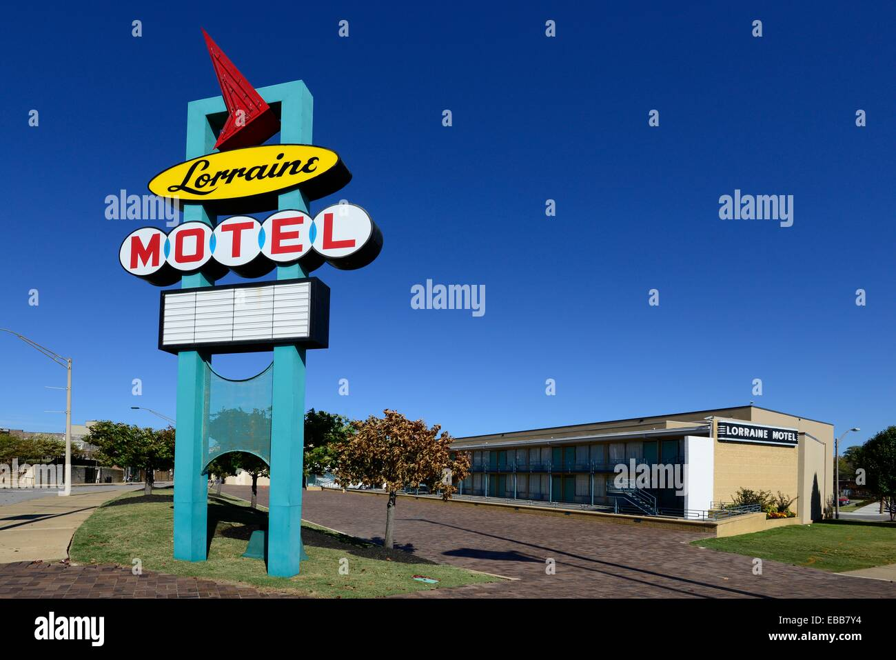 Lorraine Motel Martin Luther King Assassination Memphis Tennessee TN Stock Photo