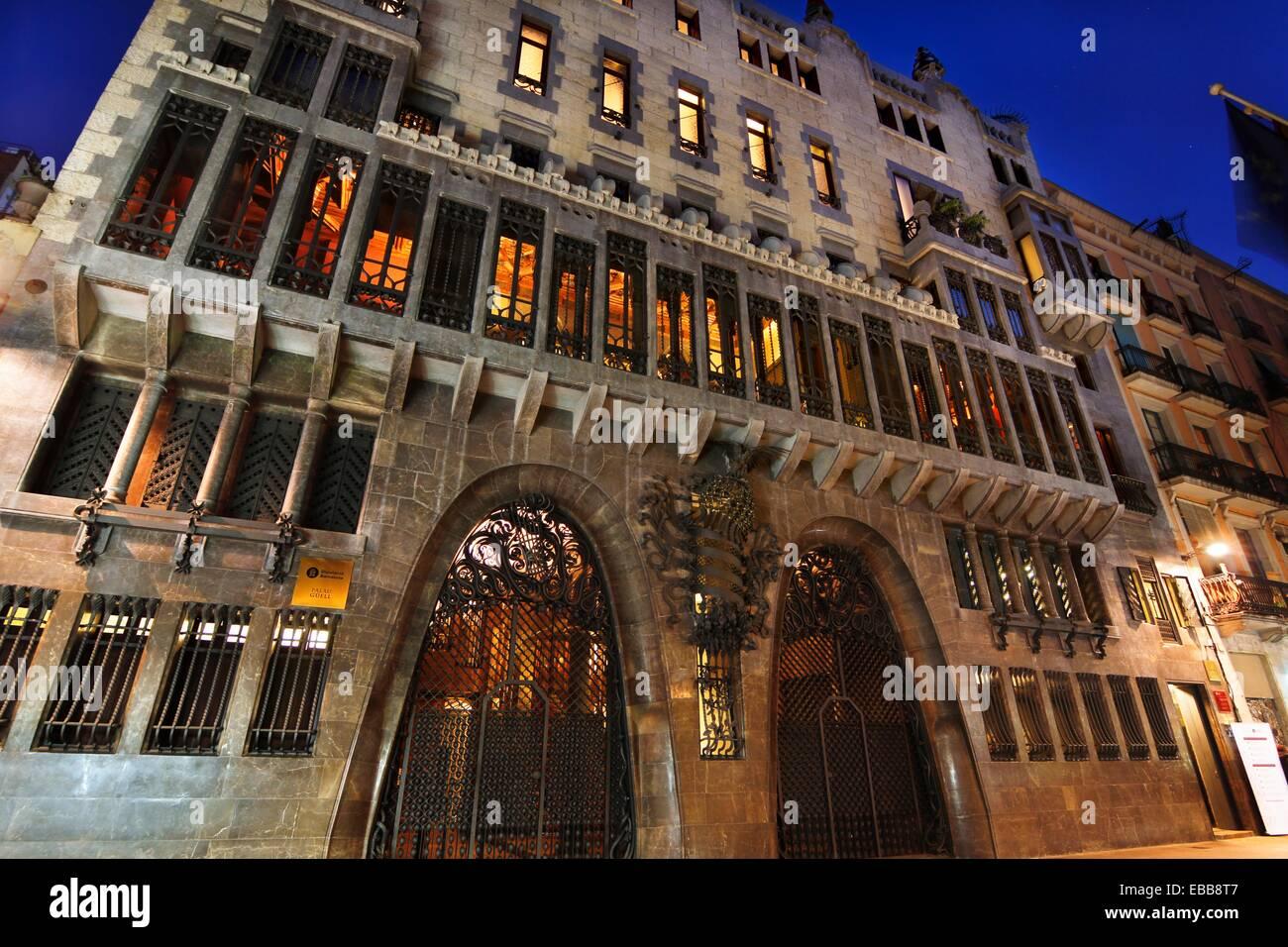 Palau Güell, by Antoni Gaudi. 1910. Barcelona. - Stock Image