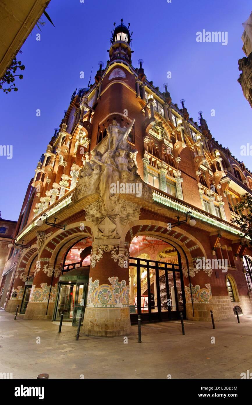 Palau de la Música Catalana  Barcelona  1888-1910 - Stock Image