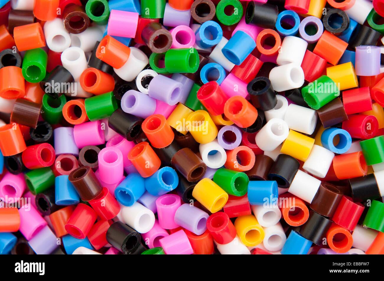 Bright Colourful Craft Materials For Children S Play Stock Photo