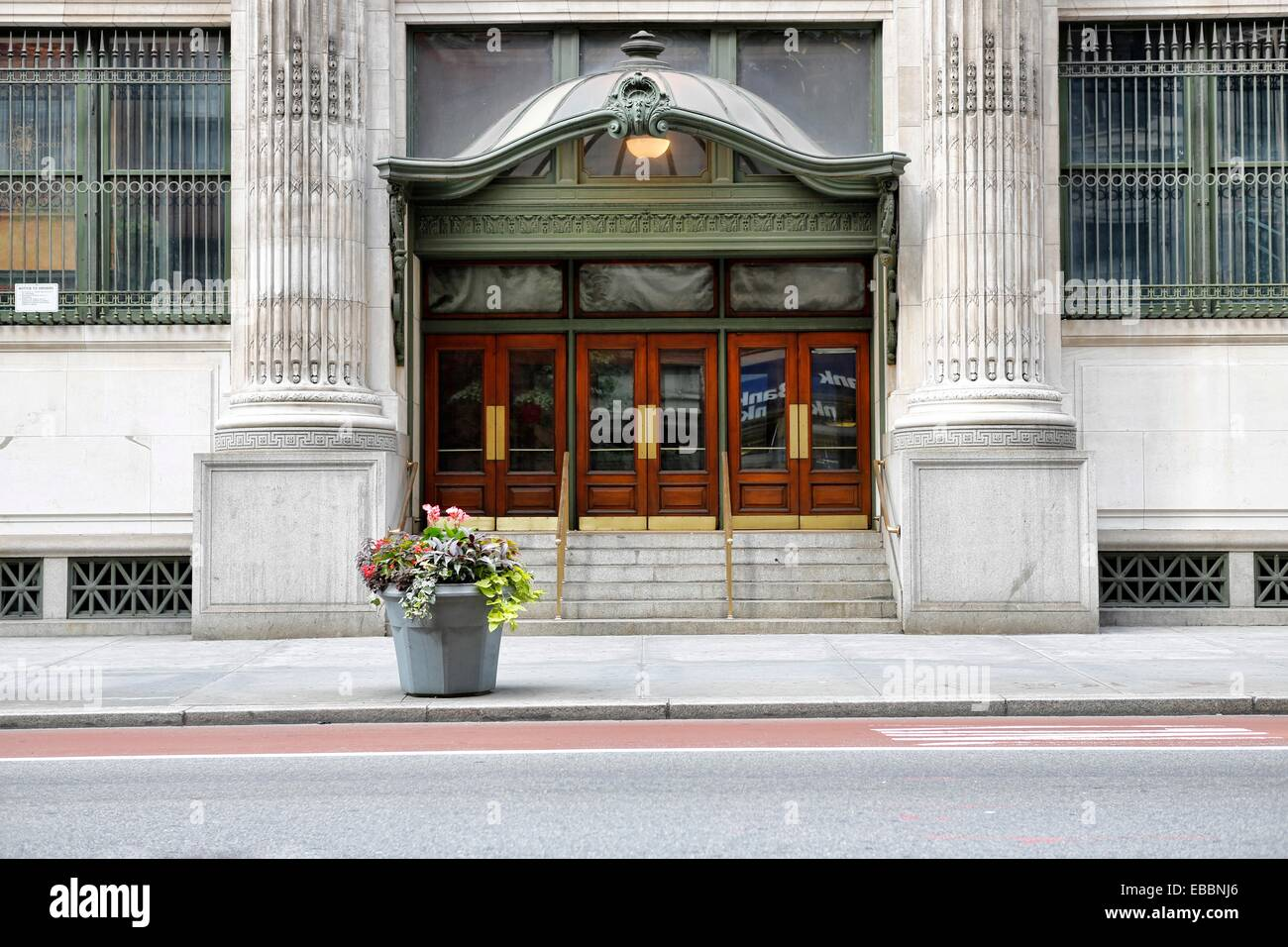 Majestic Beaux Arts Marquee Above Triple Doors & Majestic Beaux Arts Marquee Above Triple Doors Stock Photo: 75861134 ...