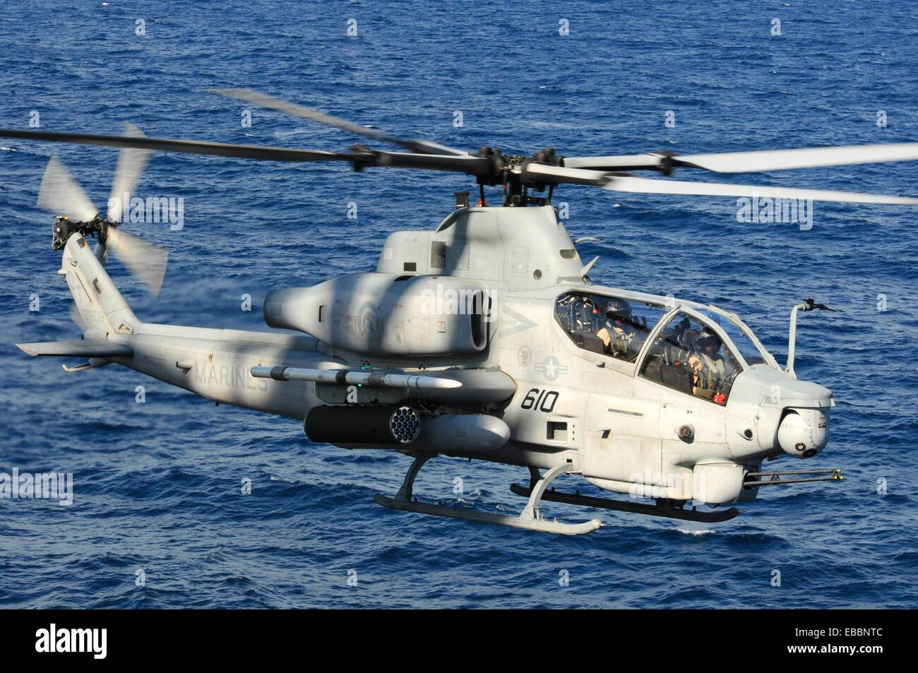 100802-N-3852A-366 ATLANTIC OCEAN Aug  2, 2010 An AH-1Z Cobra helicopter assigned to Rotary Wing Aircraft Test Squadron - Stock Image