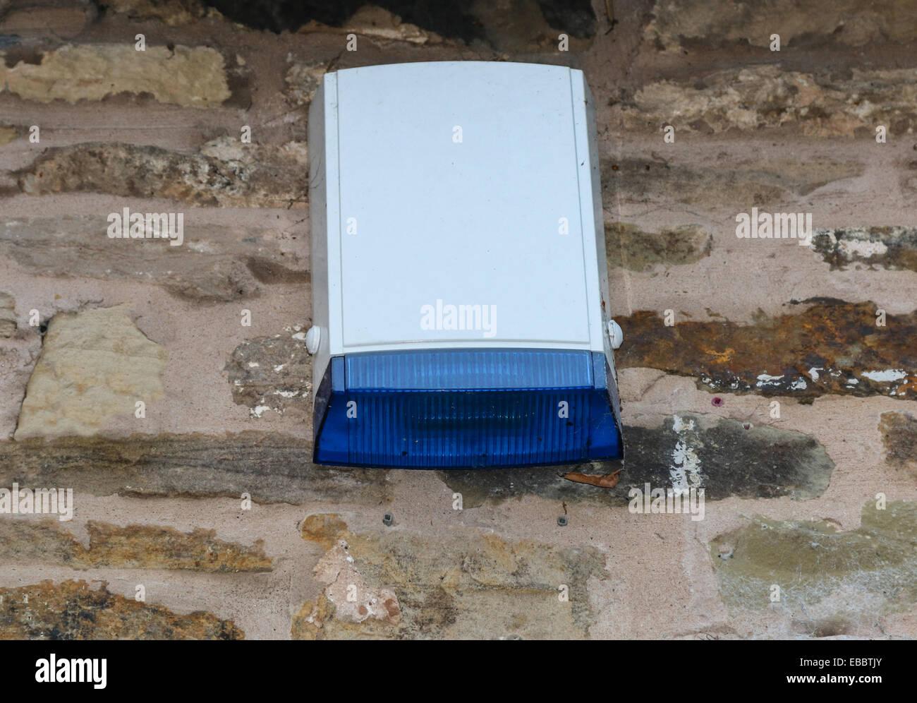 Burglar security alarm external bell box - Stock Image