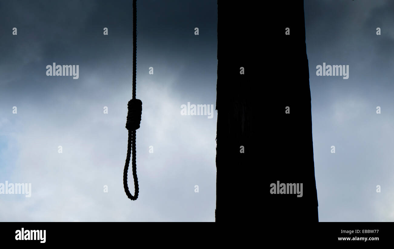 Gallows - Stock Image