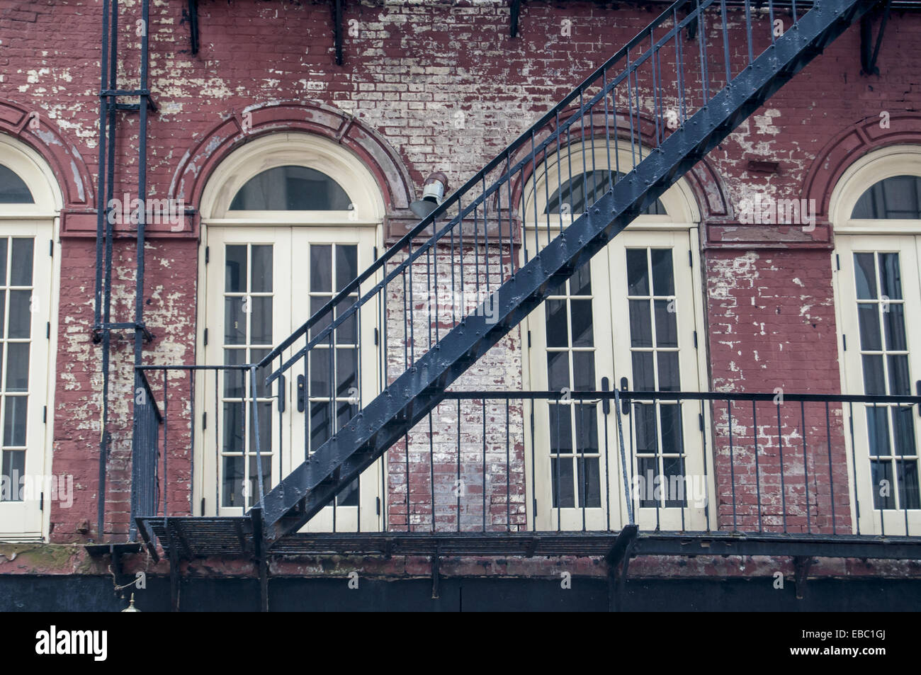Elegant Fire Escape Stairs, Lower Manhattan, New York City.