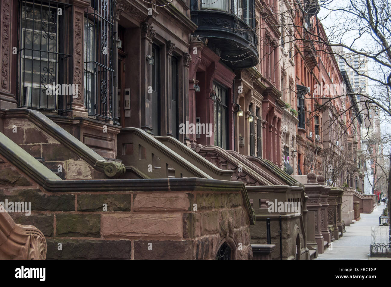 front steps of apartment buildings upper west side manhattan new