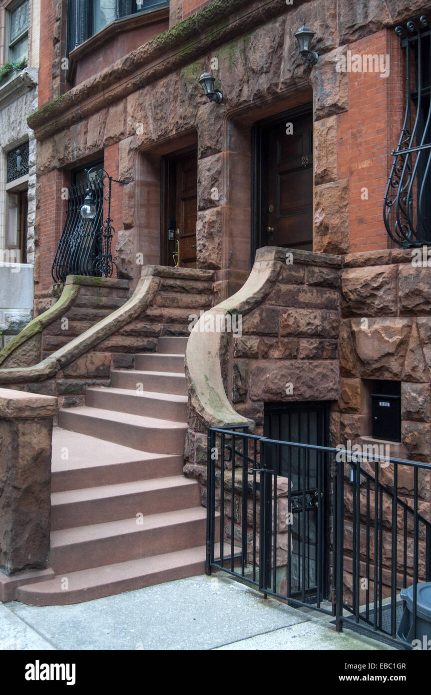 Front steps of apartment buildings upper west side ...
