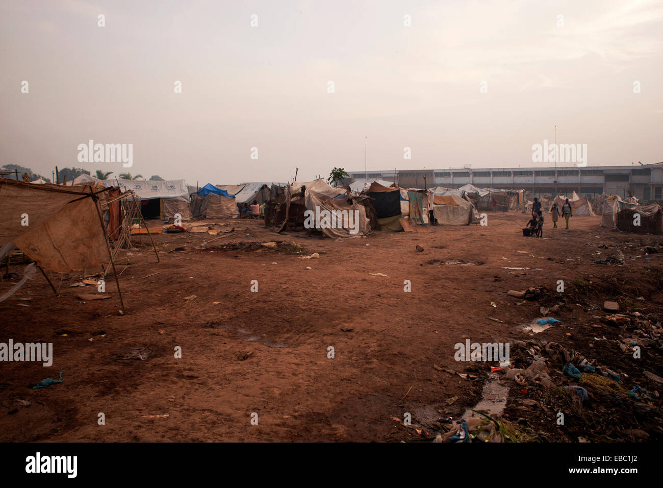 Mpoko camp for internally displaced persons, Bangui Central African Republic Stock Photo