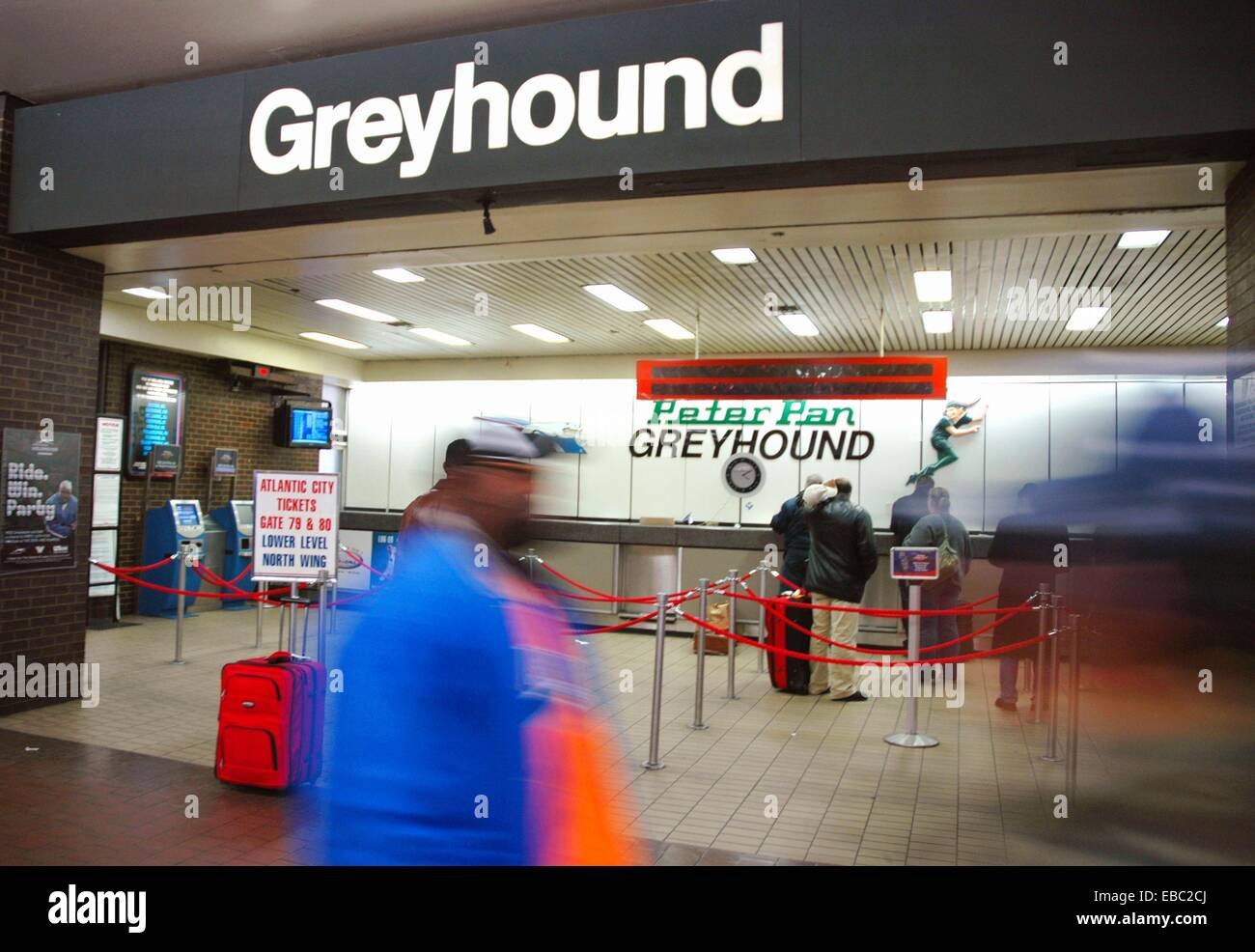 New York City Greyhound ticket office at Porth Authority Bus
