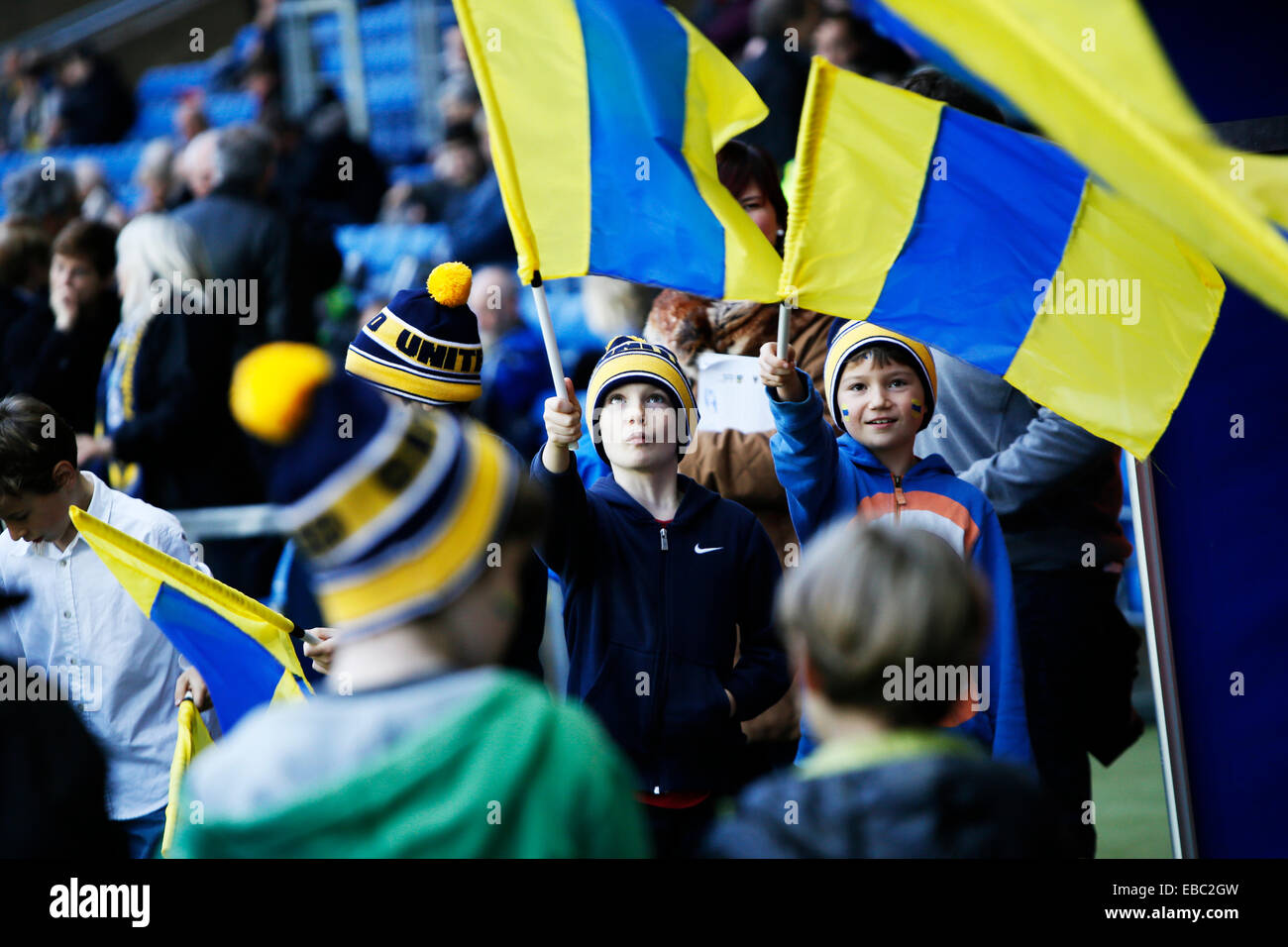 Kassam Stadium, Oxford Job name: sport Notes: FOOTBALL: Oxford United v AFC Wimbledon Pictured here is Oxford fans Stock Photo
