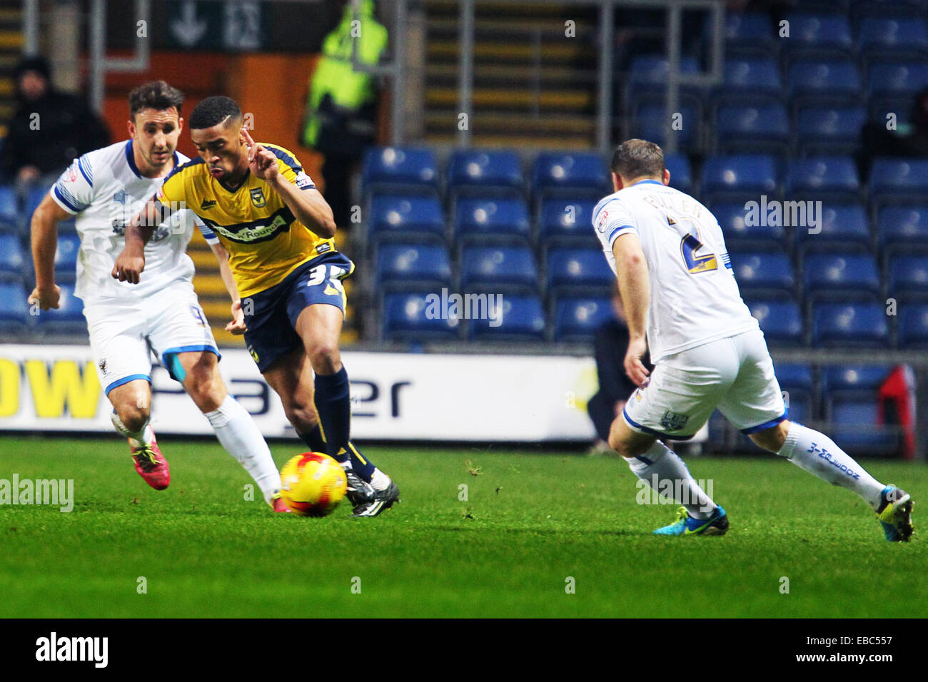 Kassam Stadium, Oxford Job name: sport Notes: FOOTBALL: Oxford United v AFC Wimbledon Pictured here is Oxford 34 Stock Photo