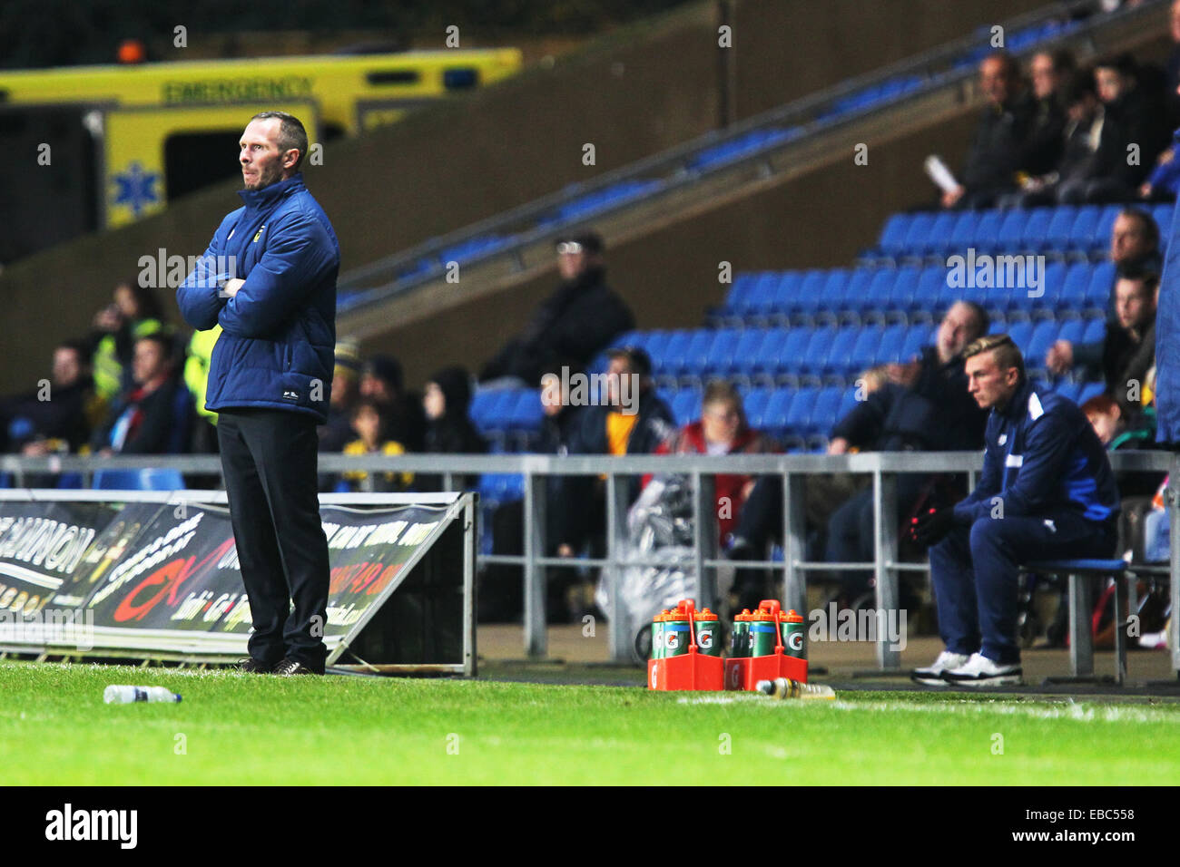 Kassam Stadium, Oxford Job name: sport Notes: FOOTBALL: Oxford United v AFC Wimbledon Pictured here is Oxford manager Stock Photo