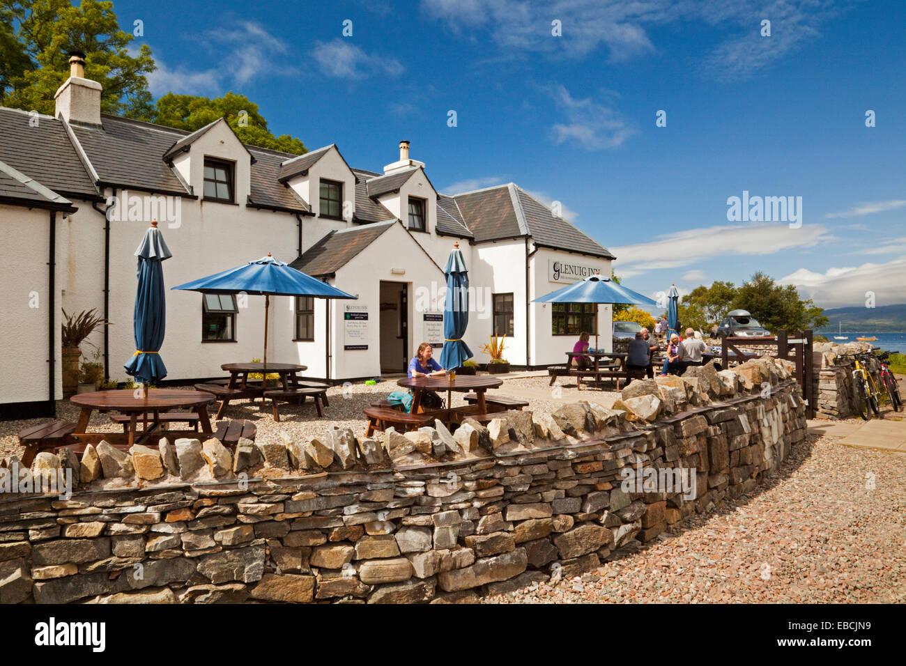 The Glenuig Inn in Moidart - Stock Image