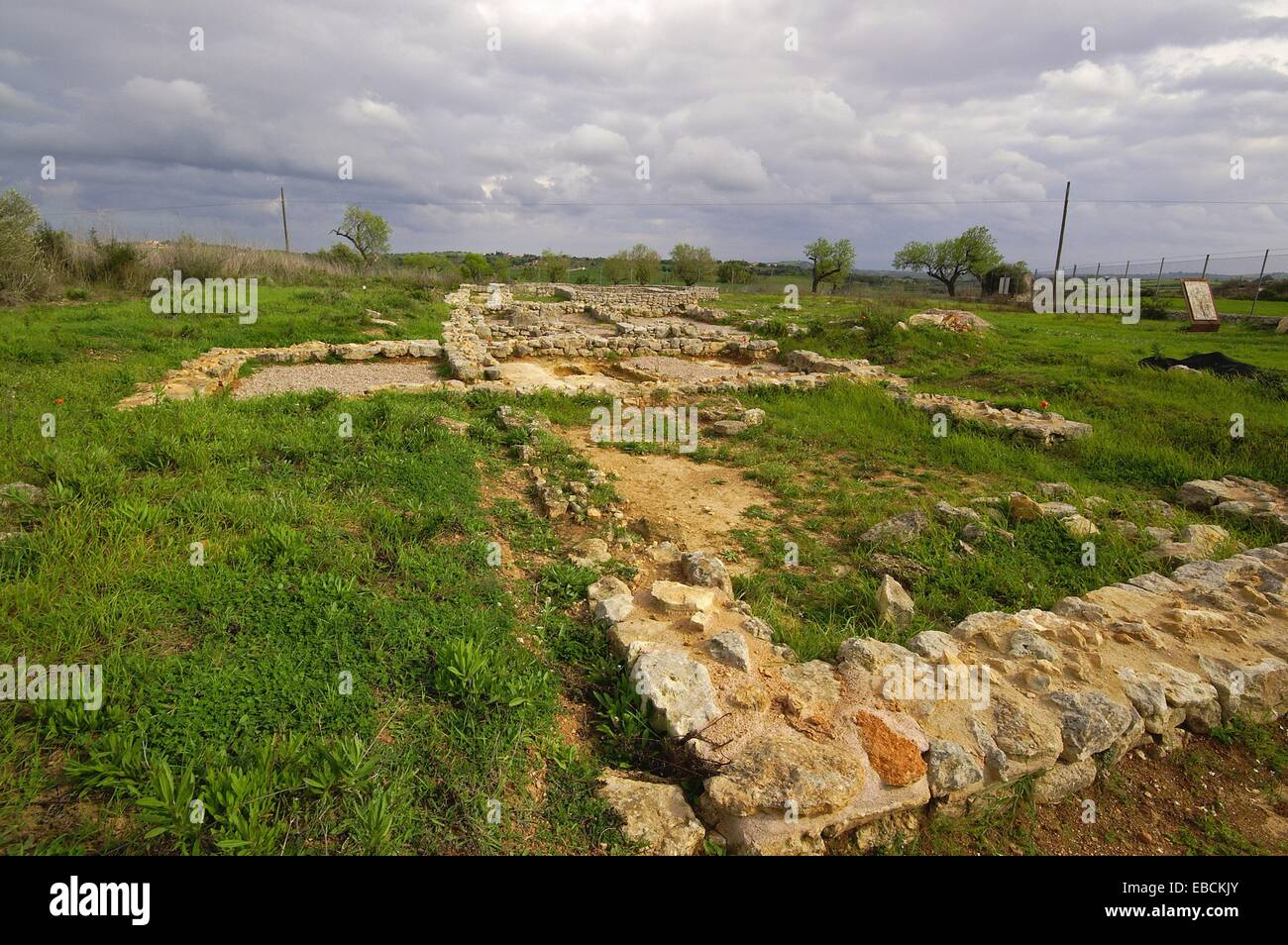 Temple and Early Christian village of Son Peretó, V-VIII centuries, Manacor, Mallorca, Balearic Islands, Spain, Stock Photo
