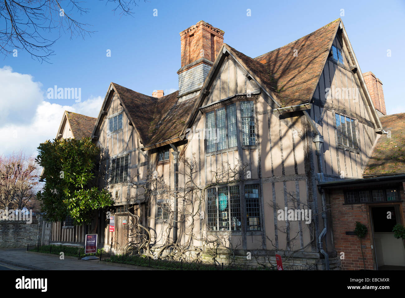 UK, Warwickshire, Stratford On Avon, Hall's Croft, the home of Shakespear's daughter. - Stock Image